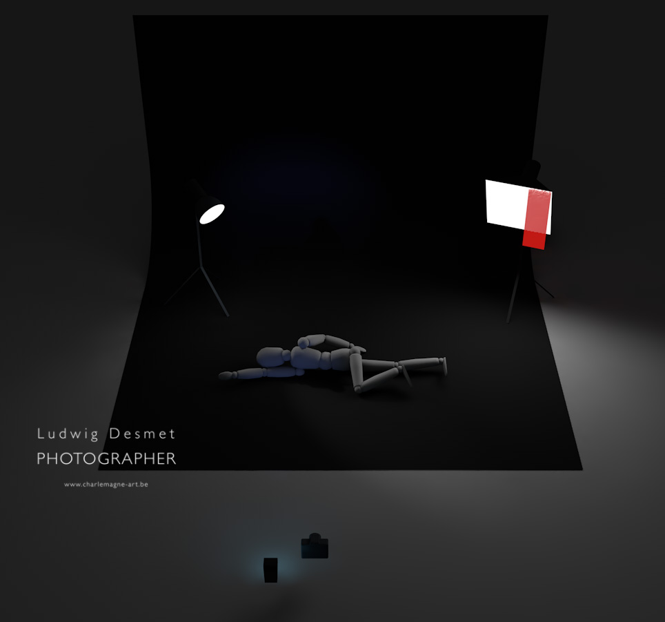 Studio setup 1 - Ludwig Desmet